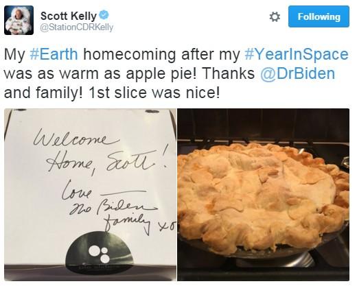 Ele recebeu refeições de presente, inclusive a torta da foto (Foto: Reprodução/Twitter)