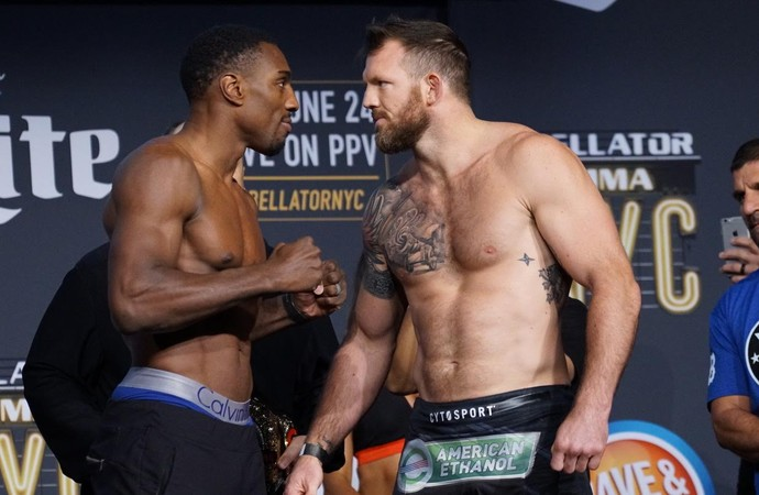 Phil Davis x Ryan Bader (Foto: Evelyn Rodrigues)