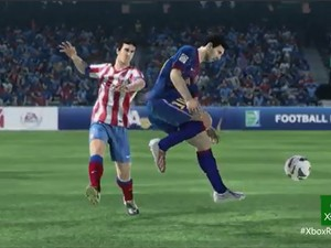 Imagem do novo Fifa 14 mostra Lionel Messi, do Barcelona, em ação. (Foto: Reprodução)