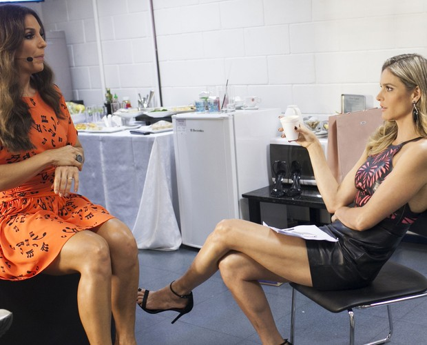 Ivete Sangalo Fernanda Lima Bastidores Duelos 3 (Foto: Dafne Bastos/TV Globo)