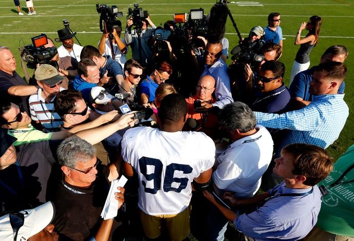 NFL Michael Sam saint louis rams (Foto: Agência AP)