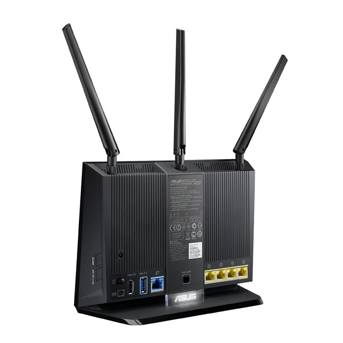 Roteador tem cinco portas Ethernet e duas entradas USB (Foto: Divulgação/Asus)