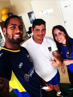 Zagueiro Dedé agradece profissionais do Volta Redonda por apoio durante tratamento de lesão (Foto: Reprodução / Instagram)