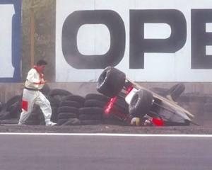 Ayrton Senna levou grande susto no México em 1991 (Foto: Divulgação)