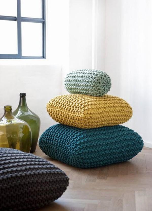 Almofadas de tricô (Foto: Reprodução/Pinterest)