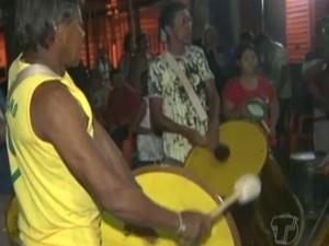 preparação do carnaval em Santarém (Foto: Reprodução/TV Tapajós)