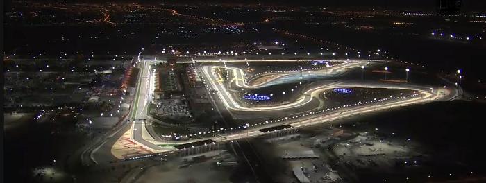 Circuito do Bahrein - noite