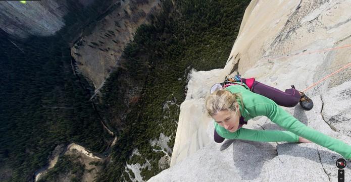 Google faz Street View 'vertical' de escalada no El Capitan (Foto: Reprodução/Google)