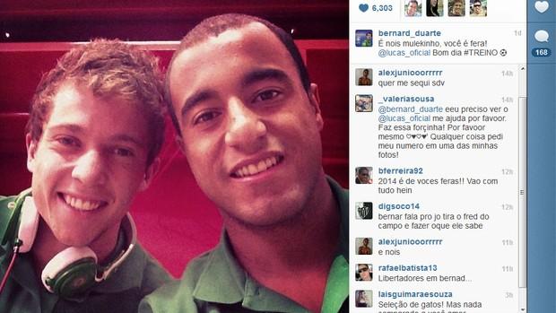 Bernard, Lucas, Atlético-MG, Paris Saint-Germain, Seleção Brasileira (Foto: Reprodução / Instagram)