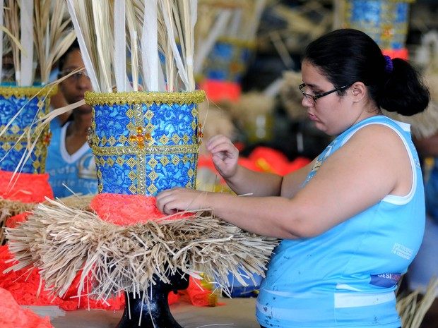 Na Vila Isabel, carnaval é levado a sério (Foto: André Durão/ G1)