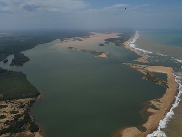 Foz do Rio Doce, em Regência, Linhares (Foto:  Fred Loureiro/Secom-ES)