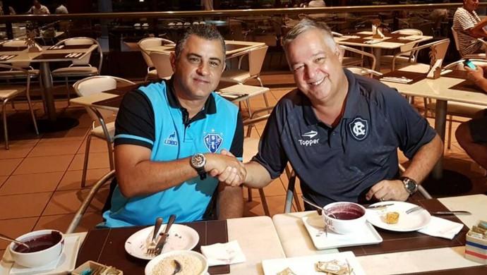 Marcelo Chamusca e Josué Teixeira (Foto: Reprodução/Twitter/Remo)