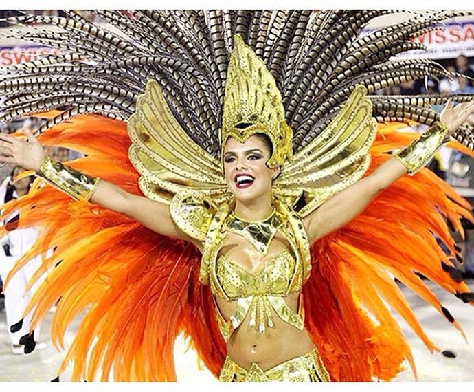 Paloma Bernardi, no Carnaval de 2015 (Foto: Arquivo Pessoal)