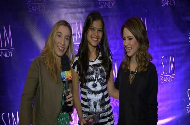 Naty leva fã para conhecer a Sandy nos bastidores do show da cantora (Foto: Reprodução/TV TEM)