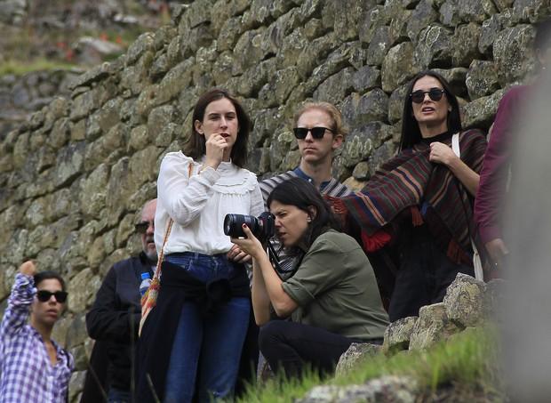 Demi Moore visita Macchu Picchu, no Peru (Foto: Percy Hurtado Santillan/Grosby Group)