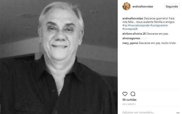 Andréa Sorvetão lamenta morte de Marcelo Rezende (Foto: Reprodução/Instagram)
