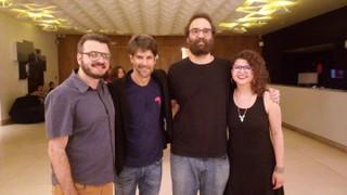 Bruno Medina, Felipe Prazeres, Marcelo Camelo e Roberta Campos (Foto: reprodução/instagram)
