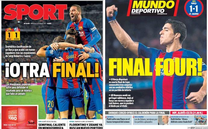 Barcelona capas jornais (Foto: Reprodução)