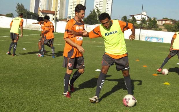 Ednei e Angelo treino CRB (Foto: divulgação / CRB)