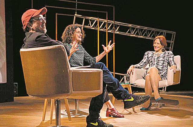 Denise Fraga entre Ary França e Annamaria Dias (Foto: Divulgação)