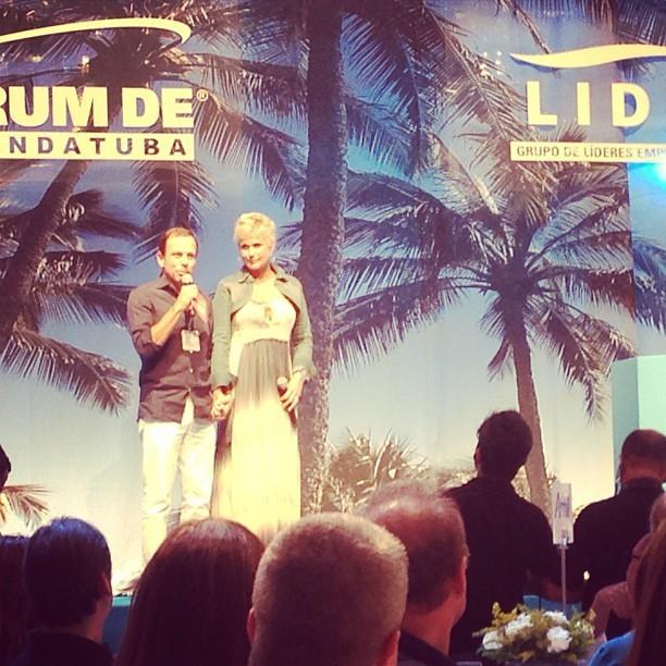 Xuxa em evento em Comandatuba, na Bahia (Foto: Instagram/ Reprodução)