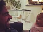 Nívea Stelmann posta foto da filha com o marido: 'Bruna linda'