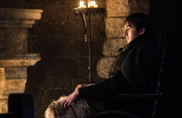 A teoria que vem sendo muito comentada é a de que Bran é o Rei da Noite e causou a Grande Guerra. Outras pessoas acreditam que ele, na verdade, vai usar seus poderes 'warg' para controlar Viserion, o dragão de gelo, e garantir a vitória dos humanos (Foto: HBO)