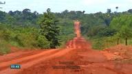 Estrada que liga Tangará da Serra a Mirassol d´Oeste está cheia de buracos