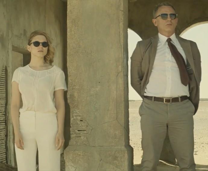 """Daniel Craig aparece ao lado de  Léa Seydoux em cena de """"007 Contra Spectre"""" (Foto: Reprodução)"""