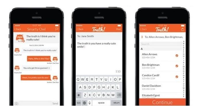 Truth permite enviar mensagens anônimas seus contatos do celular (Foto: Divulgação/Truth)