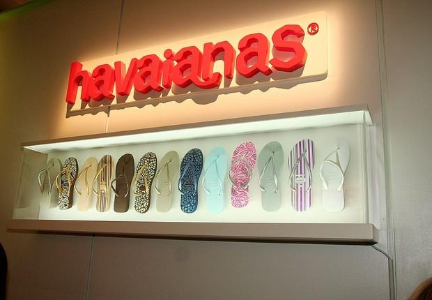 Evento de lançamento das sandálias Havaianas durante Semana de Moda de Nova York: marca pertence à Alpargatas (Foto: Getty Images/Getty Images for Havaianas)