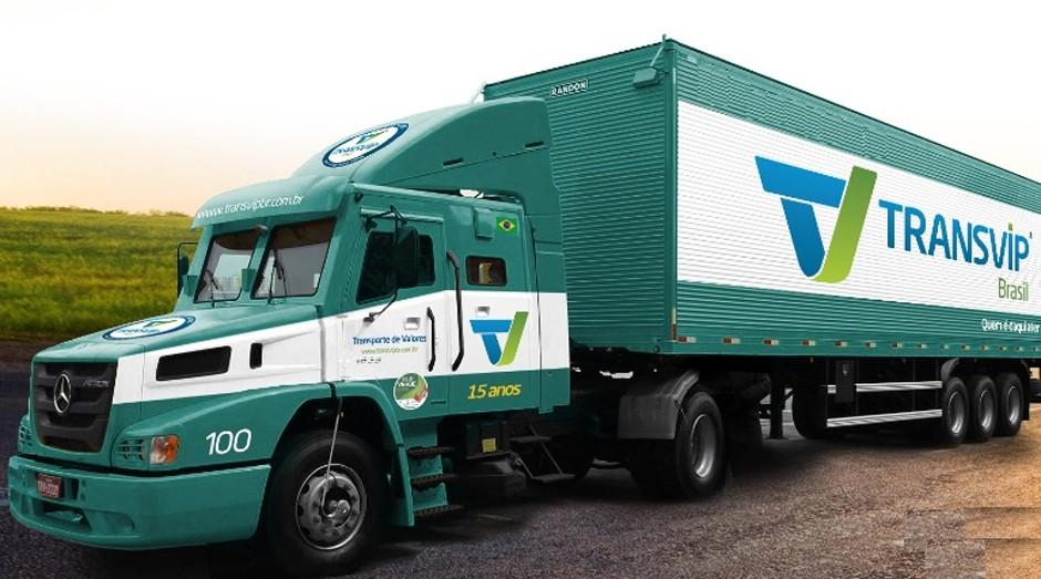 Caminhão blindado da Transvip (Foto: Divulgação)