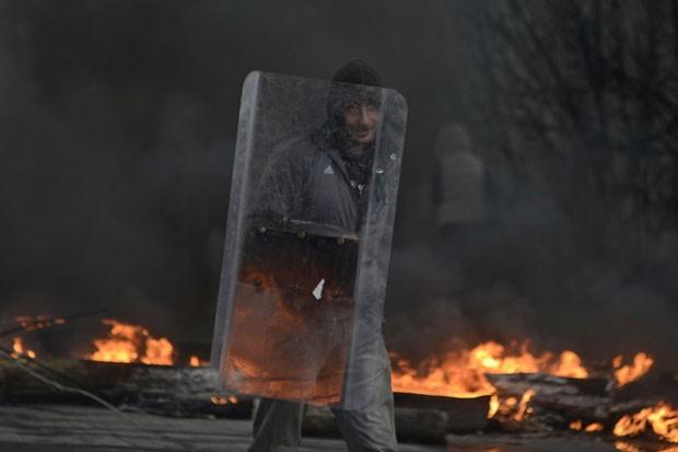 Confronto em Slaviansk, na Ucrânia, deixou 1 morto e 5 feridos  (Foto: Maks Levin/Reuters)