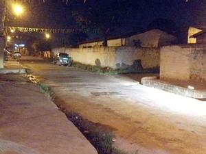 Crime aconteceu nesta rua na Vila Costa Rica, na Zona Sul de Teresina  (Foto: Gil Oliveira/ G1 PI)