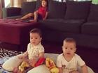 Luana Piovani mostra filhos em foto fofíssima e paparica: 'Família completa'