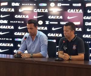 Corinthians, Edu Gaspar e Cleber Xavier (Foto: Carlos Augusto Ferrari)
