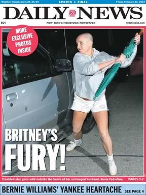 Britney Spears na capa do jornal Daily News (Foto: Reprodução / Daily News)