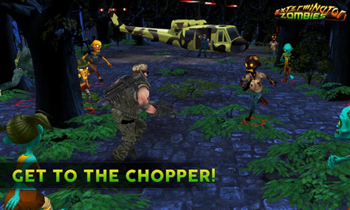 Exterminator Zombies é um game para quem gosta de tiro e zumbis (Foto: Divulgação/Windows Phone Store)