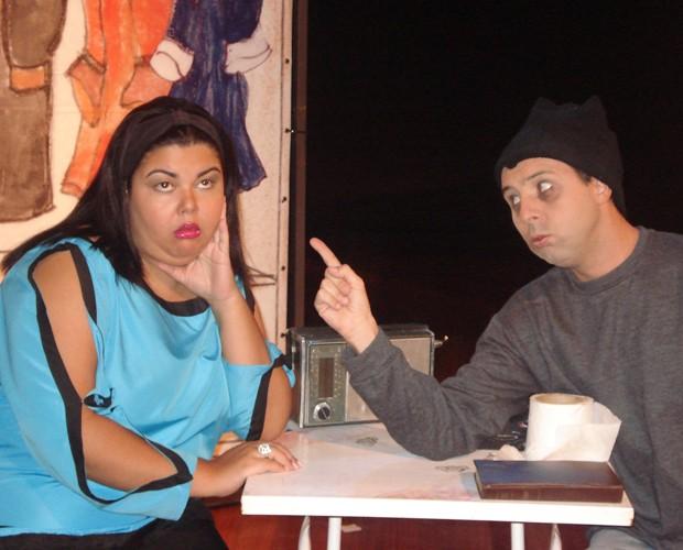 Leandro da Matta em cena com Fabiana Karla (Foto: Arquivo Pessoal)
