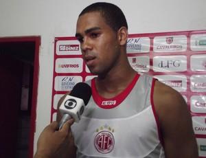 Dida, goleiro do América-RN (Foto: Tiago Menezes)