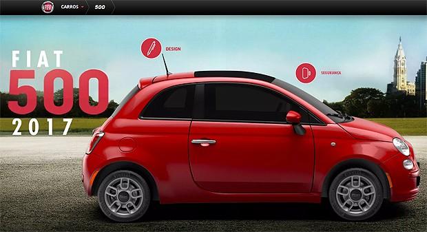 Fiat 500 já aparece como linha 2017, mas ainda não está nas lojas (Foto: Reprodução)