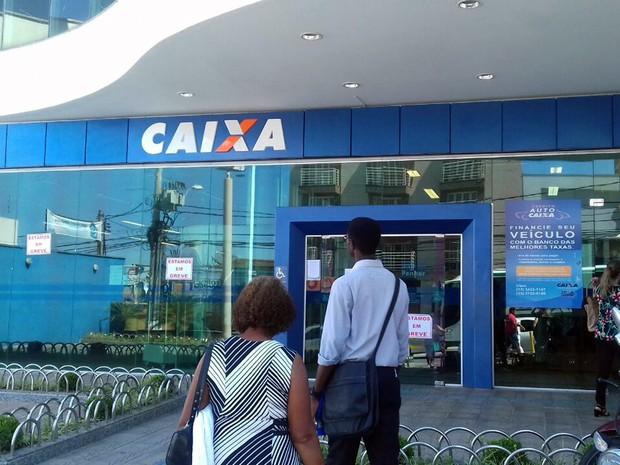 Caixa Econômica Federal, CEF, grave dos bancários, Sul de Minas, Pouso Alegre (Foto: Daniela Ayres/ G1)