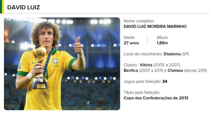 PERFIL jogadores brasil - David Luiz (Foto: Editoria de arte)