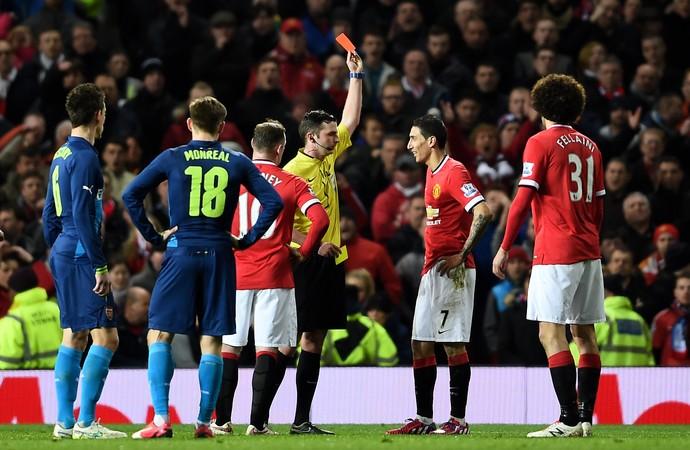 Ángel di María expulsão United 1 x 2 Arsenal (Foto: Getty)