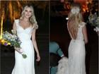 Vestido de noiva de Louise D'Tuani tem 5 mil pérolas e 5 mil cristais