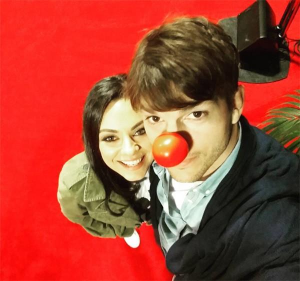 Mila Kunis e Ashton Kutcher (Foto: Instagram)