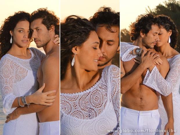Essa sessão de fotos promete! (Foto: Flor do Caribe / TV Globo)