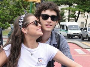 Guilherme em cena com Agatha Moreira (Foto: Malhação / Tv Globo)