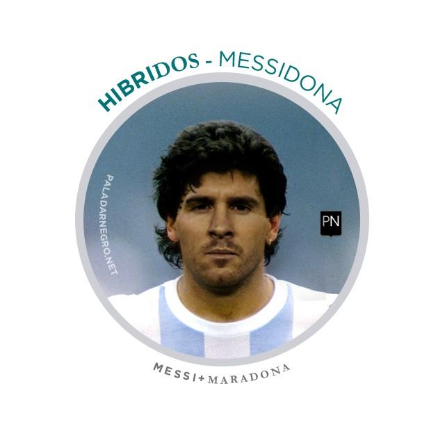 Messidona, mistura de Messi com Maradona