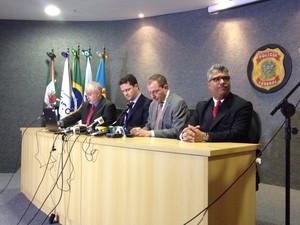Polícia Federal explia a nona fase da Operação Lava Jato (Foto: Daiane Baú/ G1)